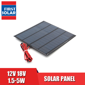 Image 1 - DC 12V Solar Panel Battery Charger Mini Solar System DIY For Battery Cell Phone Bus Car 1.8W 1.92W 2W 2.5W 3W 1.5W 4.5W 5W