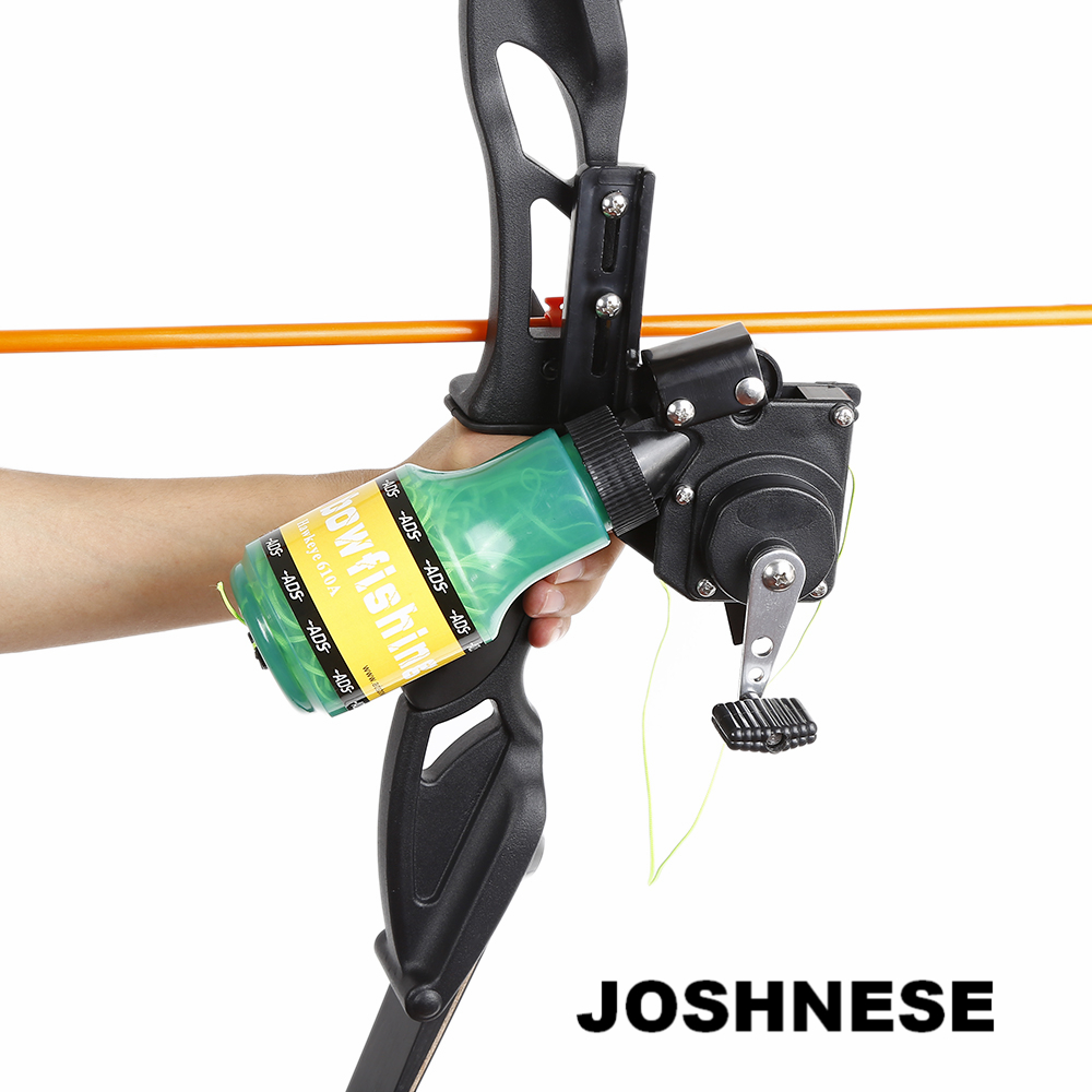 JOSHNESE Archery Recurve Bow Fishing Spincast Reel for Compound Bow Shooting Tool Fish Hunting Bow Fishing Slingshot Hot Sale archery recurve bow fishing spincast reel for compound bow shooting outdoor tool fish hunting slingshot 6 8mm