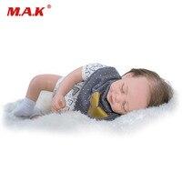 18 ''48 см полный силиконовые Bebe Reborn куклы младенца сопровождать сна настоящее милый реалистичные силиконовые новорожденных кукла, игрушка в