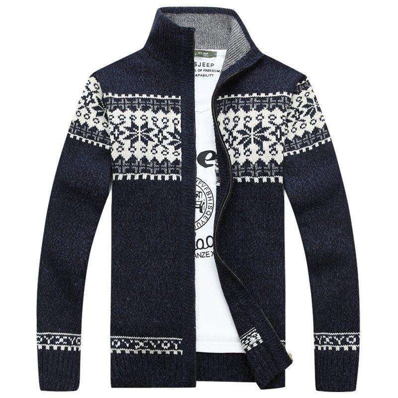 2018 Neue Weihnachten Pullover Männer Winter Pullover Schneeflocke Muster Pullover Männer Casual Strickjacke Verdickung Wolle Jacke
