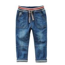 Boys Jeans 2017 Spring Summer New Boys Jeans Trouser Casual Cotton Kids Pants Elasticity Waist Children 's Denim Pants DQ337