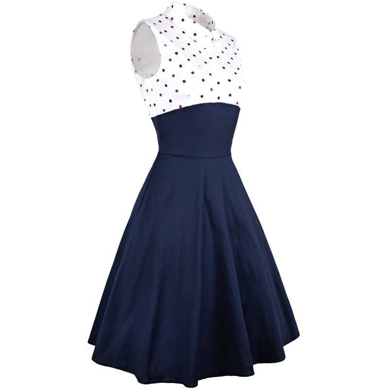 MISSJOY Two pieces set dresses Women 2018 Autumn 3 4 Sleeve Polka Dot Print Vintage Rockabilly pinup Ladies Paty dress with belt in Dresses from Women 39 s Clothing