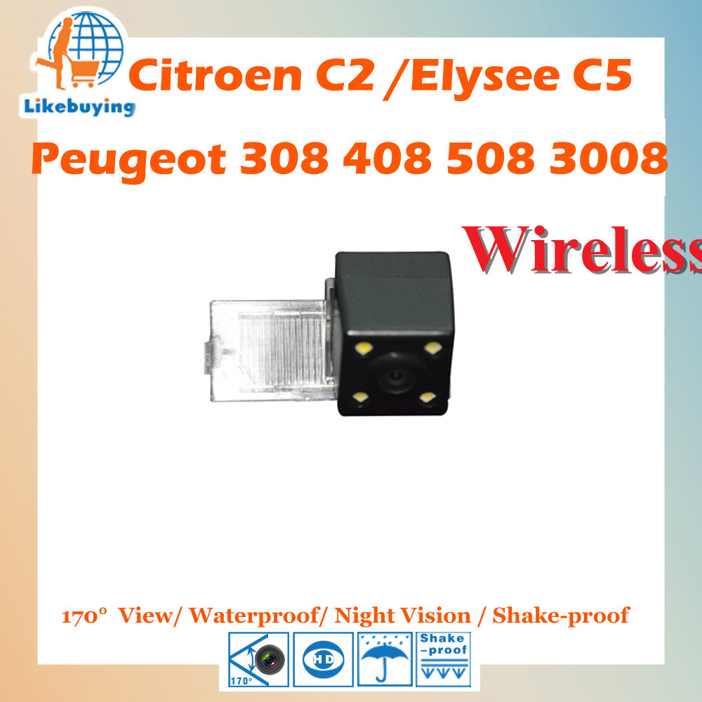 Wireless Parking 1 4 Color CCD Rear View Camera For Peugeot 308 408 508 3008 Citroen