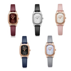 Image 5 - Julius Lady Retro Square Leather Woman Watch Casual Small Dial Quartz Wristwatches Female Dress Montre Femme Clock Gifts