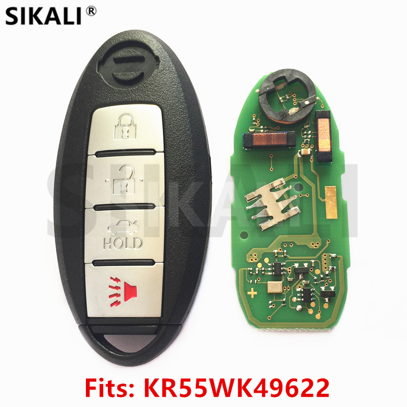 SIKALI Smart Card Remote Key for NISSAN Altima Teana Maxima MURANO for Infiniti G25 G35 G37 Q60 FX35 FX37 QX70 FX50 rear bumper reflector light for nissan juke murano sentra quest infiniti fx35 fx37 fx50 led red fog parking brake tail lamp