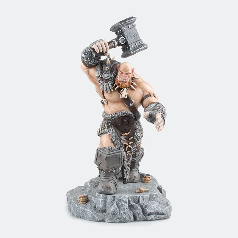 2017 New Big Ogrim Doomhammer Orcs Warrior Black Rock Clan soldier Action Figures For WOW DC Direct Sealed Classic Scene Toys 2017 new 7 fall of lich king arthas animation action figures for wow dc direct sealed classic scene toys