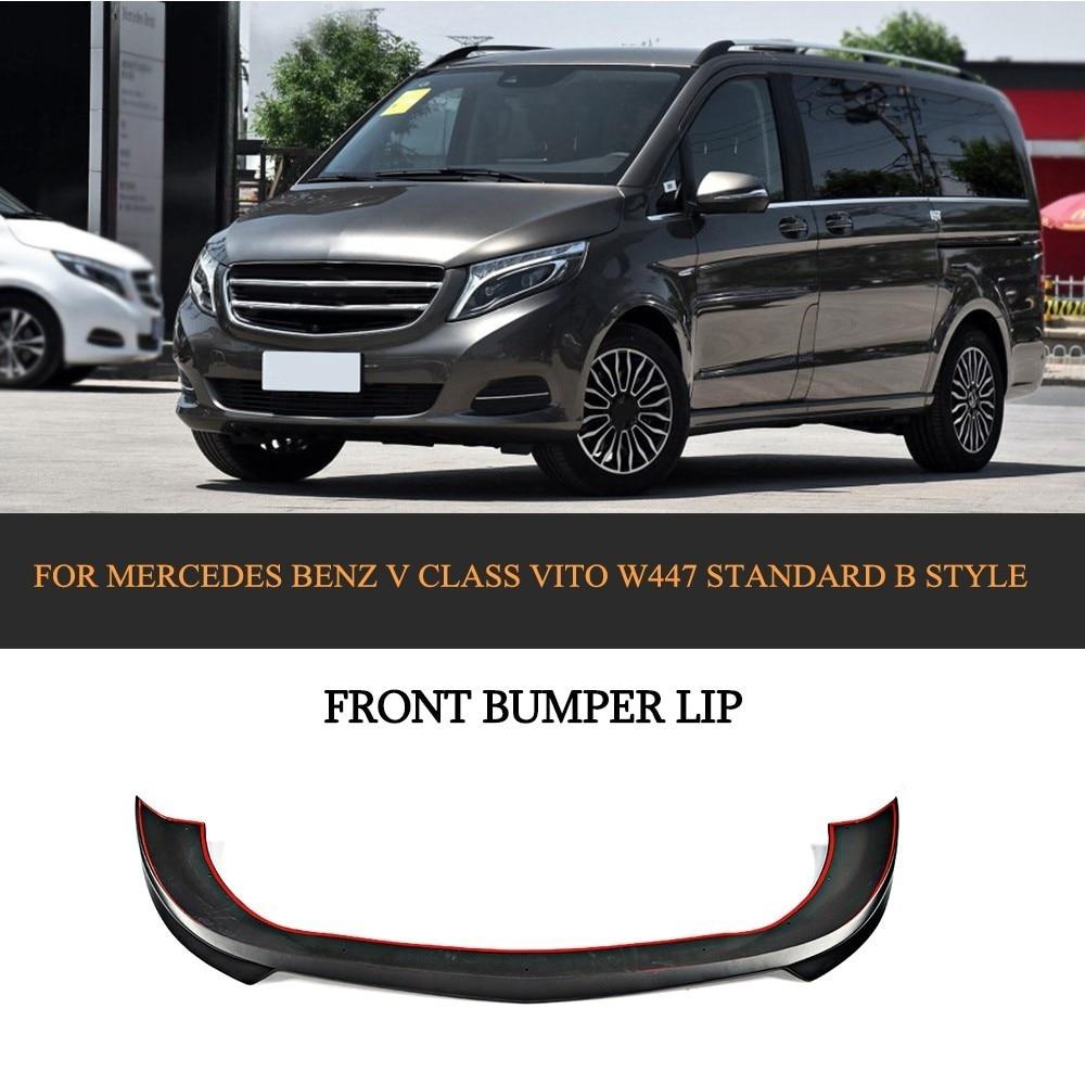 PU Front Bumper Lip Spoiler for Mercedes Benz V class Vito W447 Standard Bumper B style 2016 2017 2018 Chin Protector