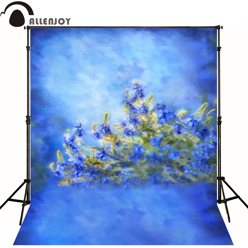 Allenjoy Photographic background Art blue flower leaves newborn vinyl backdrops baby shower interesting camera fotografica kate photographic background wood paneled walls of old letters newborn photography photocall interesting camera fotografica