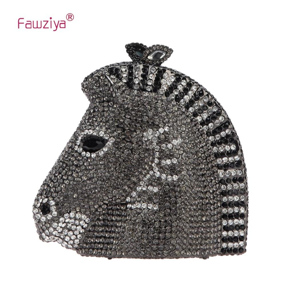 Fawziya 3D Horse Head Rhinestone Clutch Purses Evening Bags And Clutches fawziya apple clutch purses for women rhinestone clutch evening bag