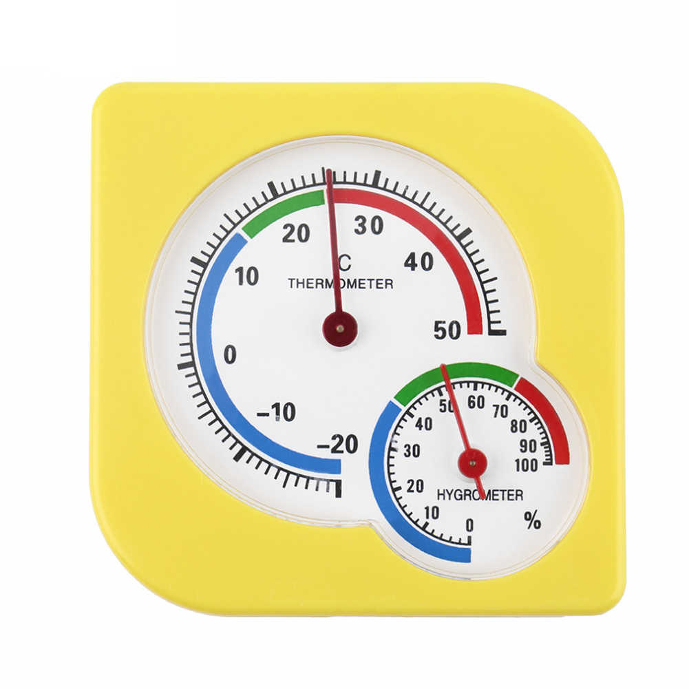 Universal Indoor Outdoor Wet Hygrometer Humidity Thermometer Temp Temperature Meter Yellow Mechanical Thermometer