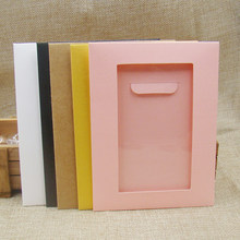 20PCS pink/white/black /kraft/beige/yellow color candy bag box paper cardboard jewelry packing bags for necklace/pendant display(China)
