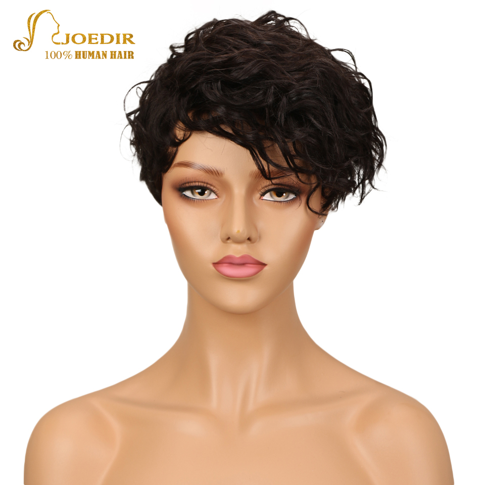 Joedir Hair Wigs For Black Women Brazilian Wet And Wavy Wig 100% Human Hair Wigs Short W ...