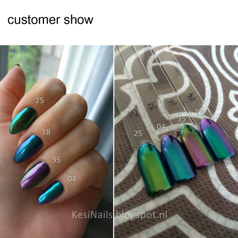 5ml Mirror Powder Chameleon Pigment Duochrome Powder Chrome Pigment ...