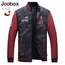 JOOBOX Luxury 2019 Baseball Jackets Men Letter Stand Collar Pu Leather Coats modis Plus Size Fleece Pilot Leather Jacket hombre 15 inch all in one pc with 2mm thin panel 10 points capacitive touch screen intel atom d2550 partaker elite z12t 6 rs232