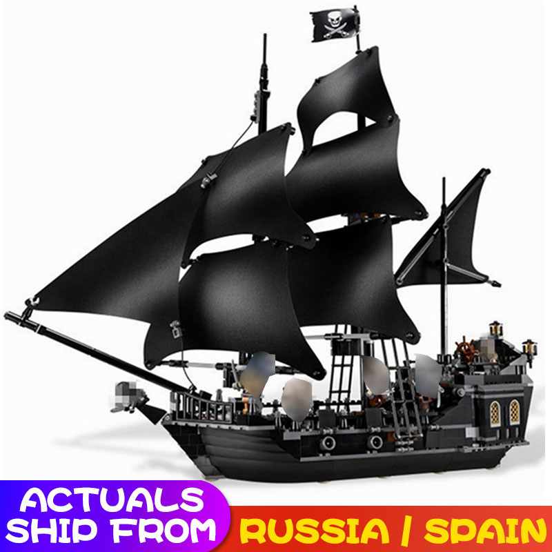 In Stock Pirates of the Caribbean Series The Black Pearl Building Blocks Toys For Children Compatible 804pcs-in Blocks from Toys & Hobbies    1
