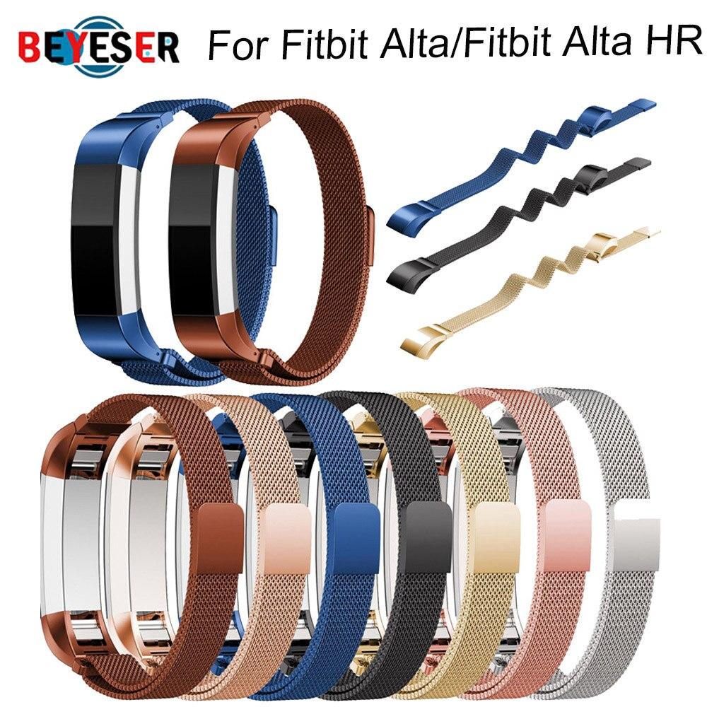 Moda Cinto de Metal de Alta Qualidade Substituição Alça de Pulso Wrist Band para Fitbit Alta Pulseira HR Monitor Relógio Inteligente Acessórios 8 cores