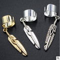 EJ 001 Foreign trade in Europe and America Alloy feather ear clip fashion simple women's simple ear clip factory outlets