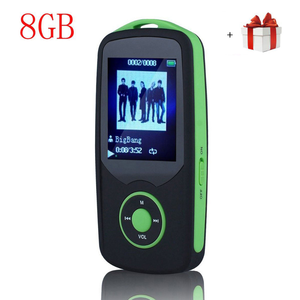 Portable Hi Fi 8GB Bluetooth MP3 Music Player with FM Radio Voice Recorder 50 Hours Lossless