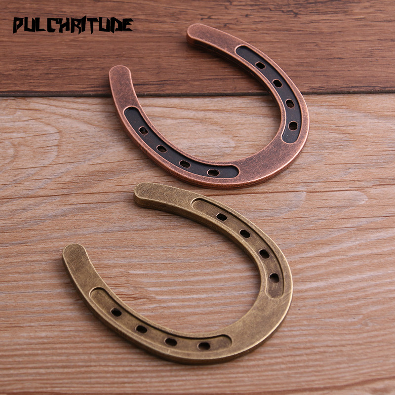 PULCHRITUDE Fit-Jewelry Pendant Charms Horseshoe Zinc-Alloy Metal 1PCS 72--58mm Makings-P6729 title=