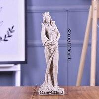 Abstract Fortune Goddess Statues Sculpture Ornament Handmade Sandstone Wedding Decor Gift for Craft Sculpture Living Room
