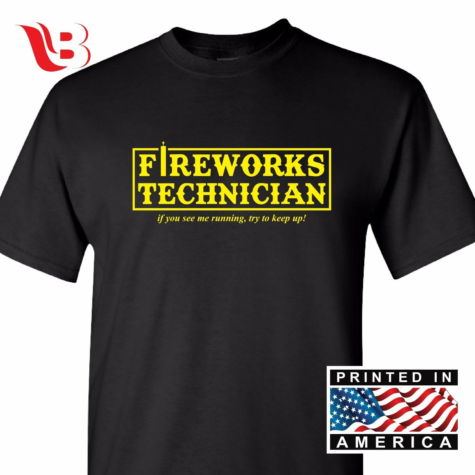 Fireworks Tech T-Shirt - Fourth Of July Fireworks 4th - Great Gift Idea Novelty