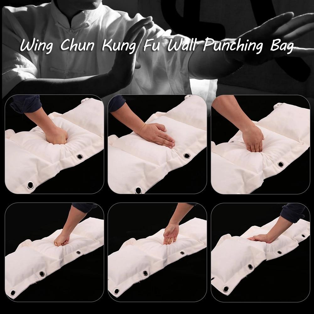 "Canvas Cotton Wing Chun Kung Fu Boxing Training Punch Bag Wall Punching Traget /"""
