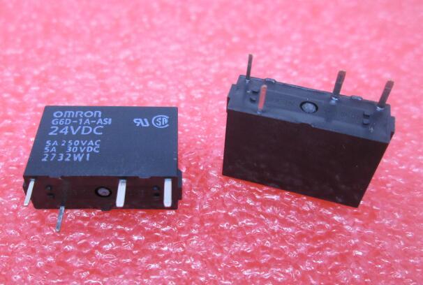NEW 24V relay G6D-1A-ASI 24VDC G6D-1A-ASI-24VDC G6D-1A G6D-1A-AS1 24VDC G6D1AASI 24VDC DC24V 5A 250VAC DIP4