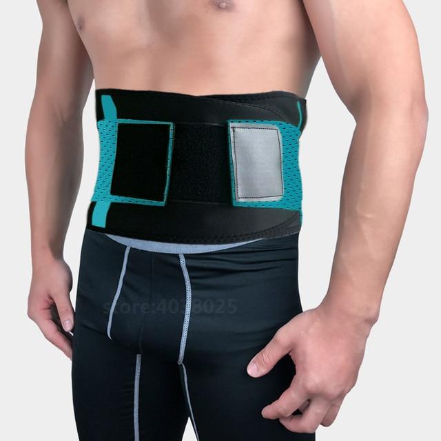 Lumbar Back Spinal Spine Waist Brace Support Belt Corset Stabilizer Cincher Tummy Trimmer Trainer Weight Loss Slimming Belt Men 2