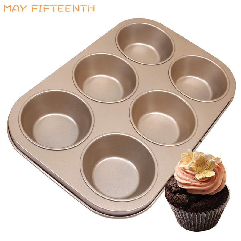 May Fifteenth Small Rectangle Baking Tray 6 Cups Cupcake