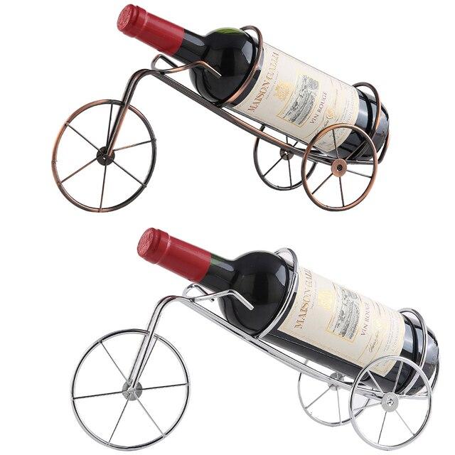 Stylish Wrought Iron Wine Rack Whisky Wine Bottle Holder Standretro