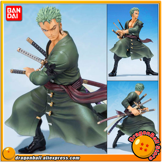 Japan Anime ONE PIECE 100% Original BANDAI Tamashii Nations Figuarts Zero Figure - Roronoa Zoro (5th Anniversary Edition) japanese anime original bandai figuarts zero one piece 5th anniversary edition monkey d luffy