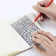 T26 Hollow Stainless Steel Letter Number Drawing Picture Graffiti Template Ruler Study Stationery School Office Supply