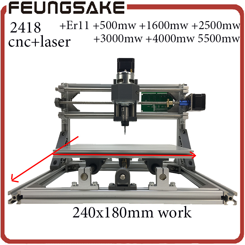 2418 cnc router engraving machine,3axis diy mini machine,Pcb Pvc Milling Machine,Wood Carving machine,GRBL control,arduino chip cnc 2418 with er11 cnc engraving machine pcb milling machine wood carving machine mini cnc router cnc2418 best advanced toys
