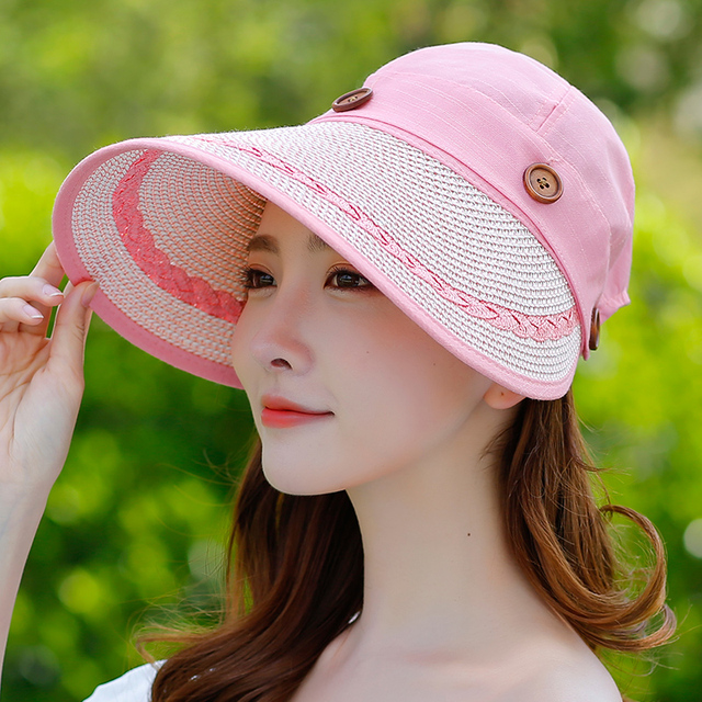 Womens Breathable Summer Cool Hat Outdoor Travel Wild Sun Hat For Young  Girls New Fashion Design Korean Style Caps For Ladies 8f954210f
