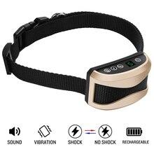 NEW dog anti barking collar automatic dog training collar New digital display rainproof rechargeable adjustable