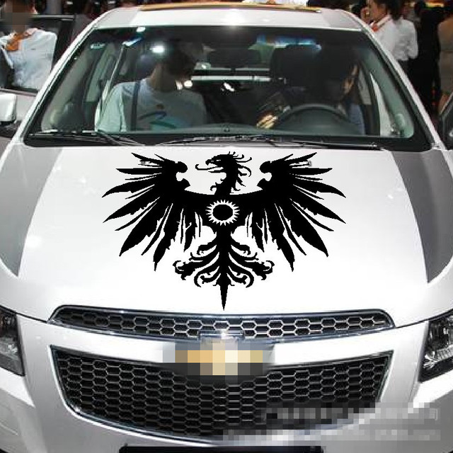 Personality Decor Sticker Eagle Pattern Reflective Material Car Stickers Engine Hood Decal Cool Styling