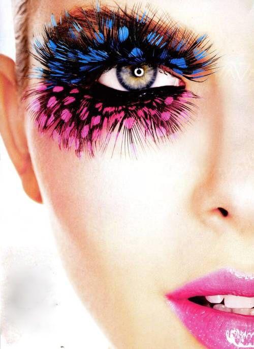 041b1cf3c11 2Pairs Lashes Fake Eyelashes for Eye Makeup Lash Tool False Eyelash Thick  Makeup Stage Eye Lash Beauty Pink Feathers Eyelashes