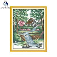Joy Sunday Scenery Style Good Environment Christmas Cross Stitch Patterns Free To Print Embroidery Designsfor Hand