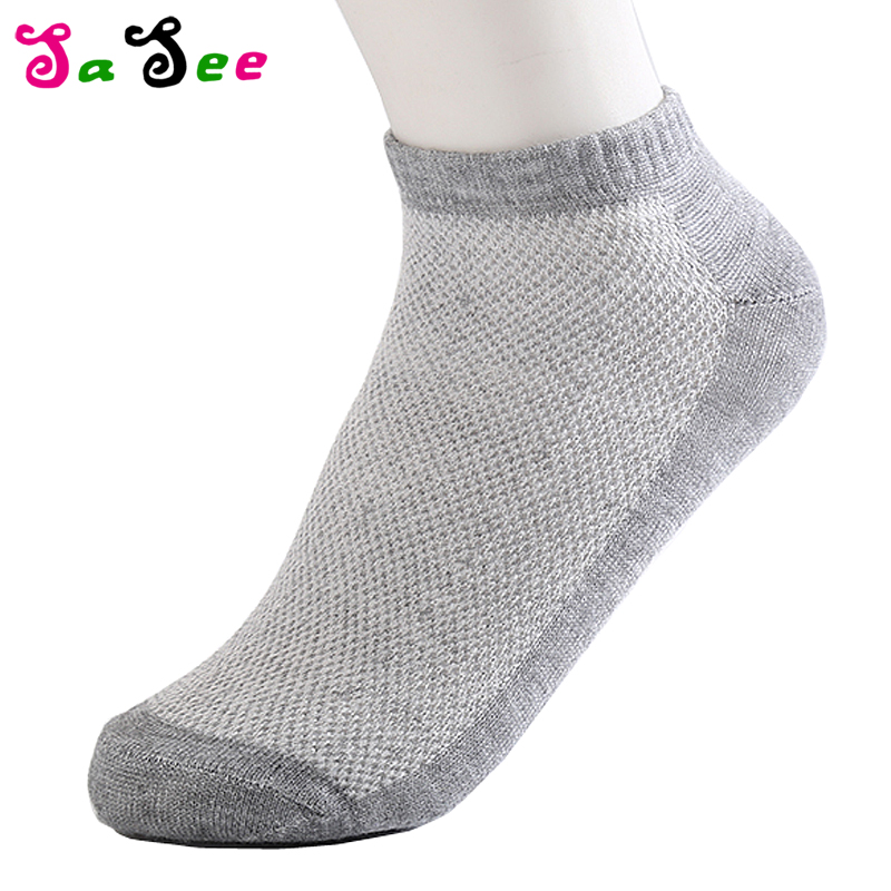 20Pcs=10 Pairs Solid Color Mesh Mens Socks New Invisible Ankle Men Spring Summer Breathable Cool Thin Boat Sock EUR 37-43 Meias