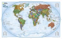 National Geographic World Map Printed Canvas Oil Painting Home Decoration Wall Pictures For Living Room Poster
