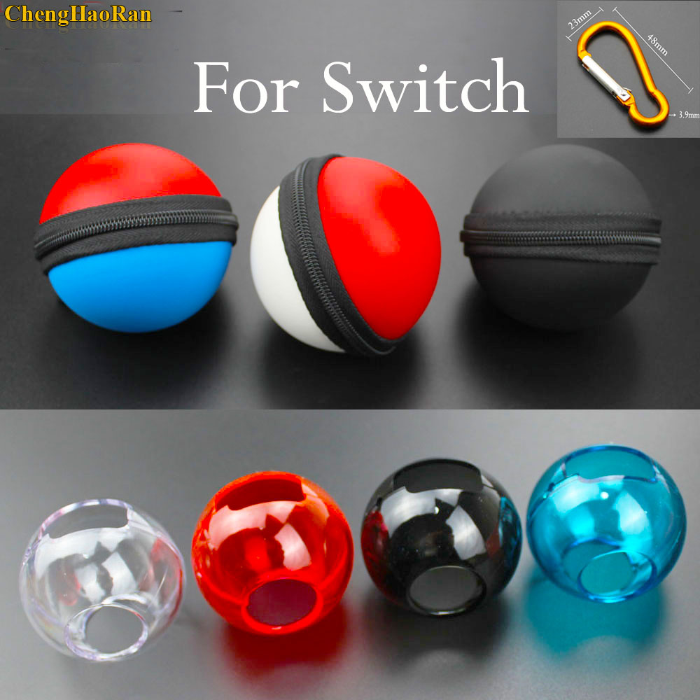 For Nintend Switch Poke Ball Plus Controller Carrying Bag Crystal Case Transparent Shell Cover Pokeball Game Accessories parts