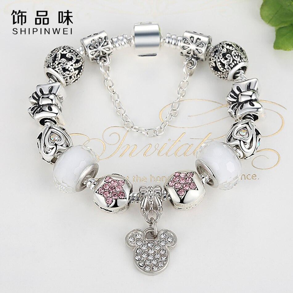 Fashion Fit Pandora Charm Bracelet 925 Antique Silver M