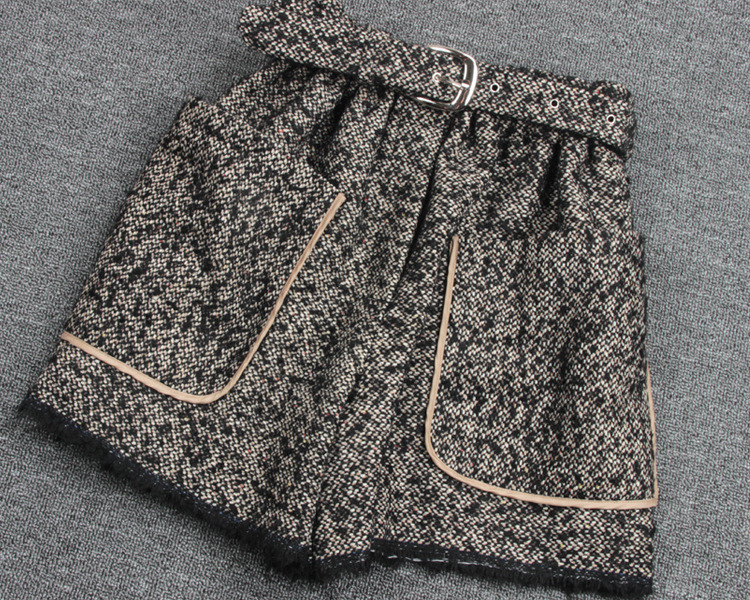 De Cintura Cáñamo Se Promoción Ocio Gruesa Cortos E Borlas Ropa Elástica Pantalones Alta Femeninos Real Lana Invierno Marrón Otoño 2016 wt76gq7