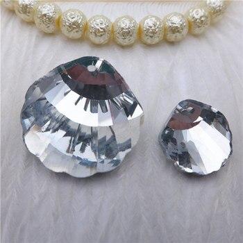 3fbceef3205e 20 30mm cristal shell forma colgante Chapado en plata océano mar bricolaje  joyería RESULTADOS DE K9 lámpara accesorios lámpara gotas PH41