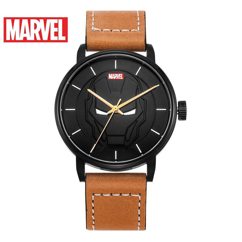 MARVEL Watches Quartz Stainless-Steel Luminous-Hands Male Fashion Luxury Iron-Man Boys