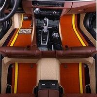 Car floor liners for Audi A3 A4 A5 A6 allroad A7 A8 A8L Q3 Q5 Q7 5D waterproof all weather carpet 5D car floor mats