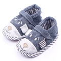 New Arrival Cute Dog Pattern Cotton Fabric Baby Boys Infant Pre Walker Shoes 0-12M