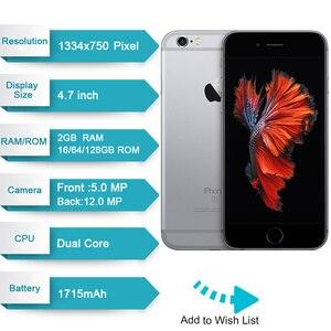 "Image 2 - מקורי Apple iPhone 6s 2GB RAM 16GB 64GB 128GB ROM 4.7 ""iOS ליבה כפולה 12.0MP מצלמה טביעות אצבע סמארטפון 4G LTE טלפון נייד"