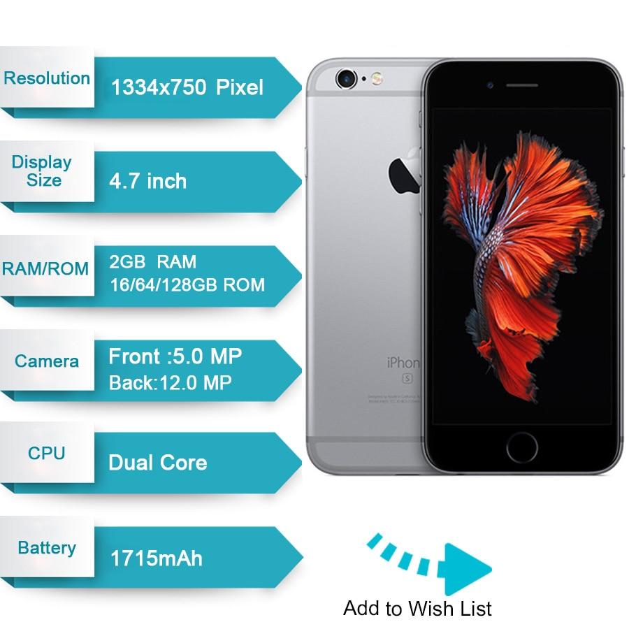 US $149 69 28% OFF Original Apple iPhone 6s 2GB RAM 16GB 64GB 128GB ROM 4 7