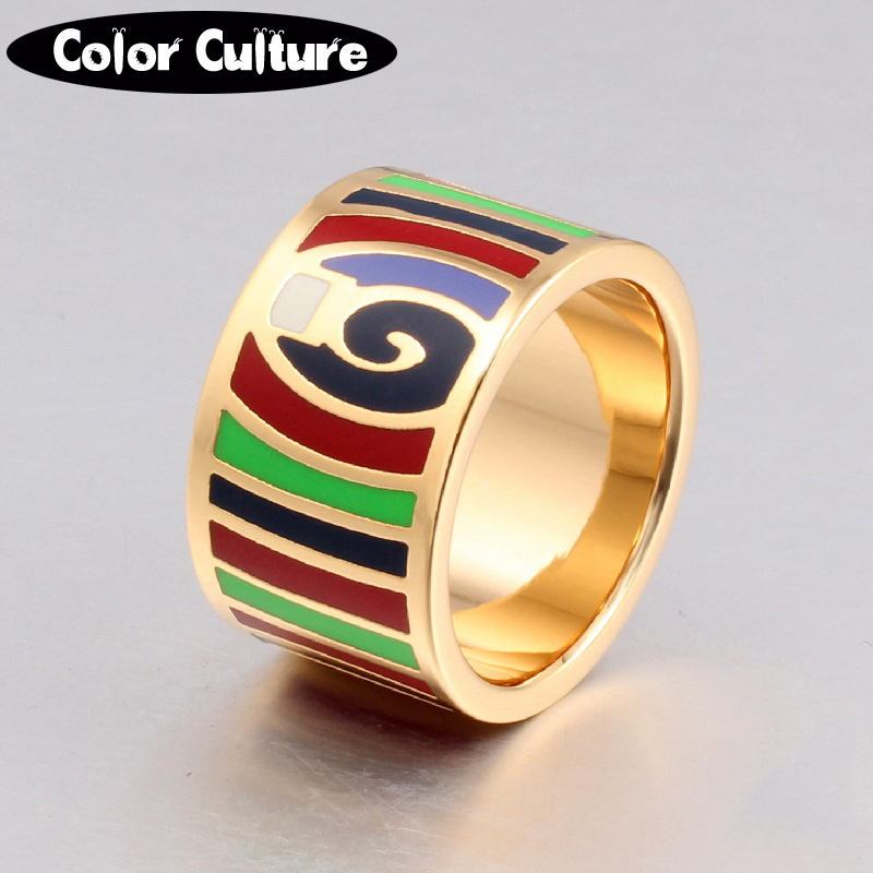 Retro elegant classic stainless rings for women